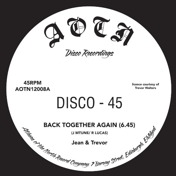 "Jean & Trevor ‎– Back Together Again (Vinyl 12"")"