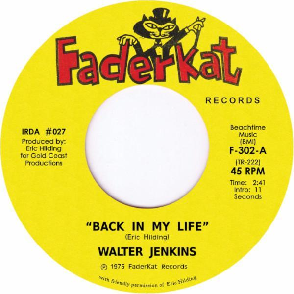 "Walter Jenkins ‎– Back In My Life (Vinyl 7"")"