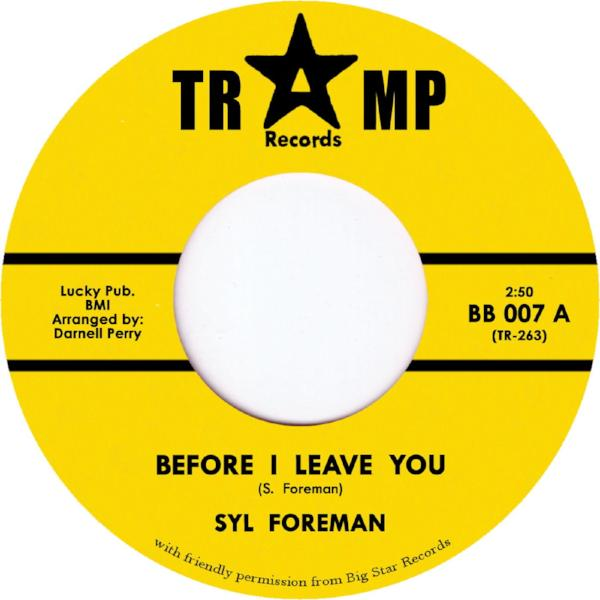 "Syl Foreman - Before I Leave You (Vinyl 7"")"