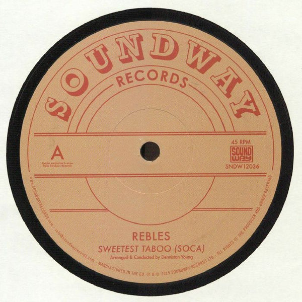 "Rebles ‎– Sweetest Taboo (Soca) (Vinyl 12"")"