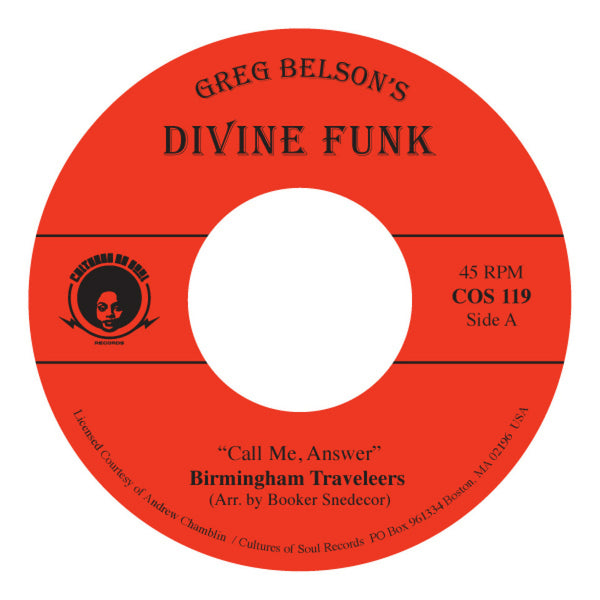 "Birmingham Travelers/ The Gospel Ambassadors ‎– Call Me Answer (Vinyl 7"") [PREORDER]"