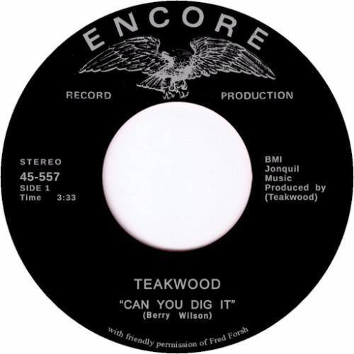"Teakwood – Can You Dig It / Suddenly You're My Life (Vinyl 7"")"