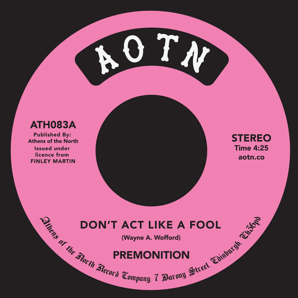 "Premonition ‎– Don't Act Like A Fool (Vinyl 7"")"