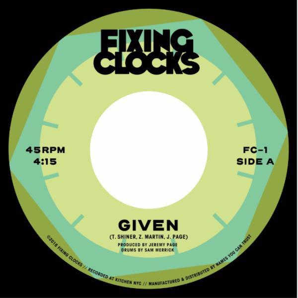 "Fixing Clocks - Given (Vinyl 7"")"