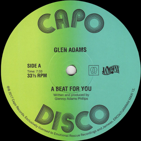 "Glen Adams ‎– A Beat For You (Vinyl 12"")"