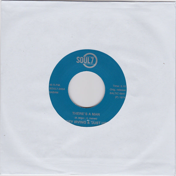 "Joey Irving & ""Just Us"" – There's A Man / Have This World And You (Vinyl 7'') - Rook Records"