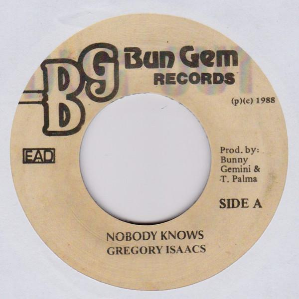 "Gregory Isaacs – Nobody Knows (Vinyl 7"")"