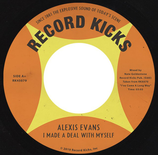"Alexis Evans ‎– I Made a Deal With My Self (Vinyl 7"")"