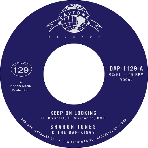 "Sharon Jones & The Dap-Kings, The Dap-Kings ‎– Keep On Looking (Vinyl 7"")"
