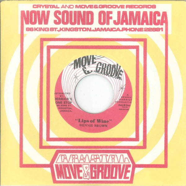 "Dennis Brown / The Crystalites ‎– Lips Of Wine / Stranger In Town (Vinyl 7"")"