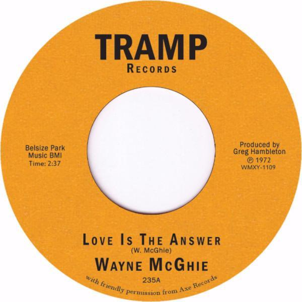 "Wayne McGhie - Love Is the Answer (Vinyl 7"")"