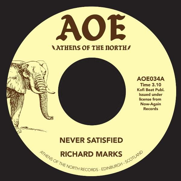 "Richard Marks ‎– Never Satisfied (Vinyl 7"")"