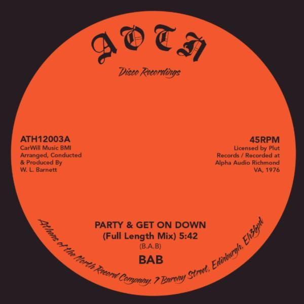 "BAB – Party & Get On Down (Vinyl 12"")"