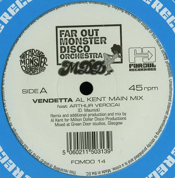 "Far Out Monster Disco Orchestra Ft. Arthur Verocai ‎– Vendetta (Vinyl 12"")"
