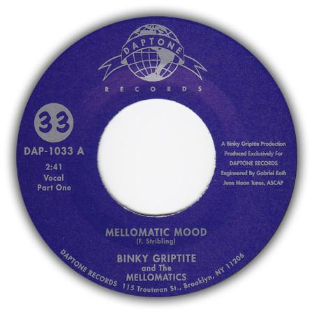 Binky Griptite & The Mellomatics - Mellomatic Mood (Vinyl 7'') - Rook Records