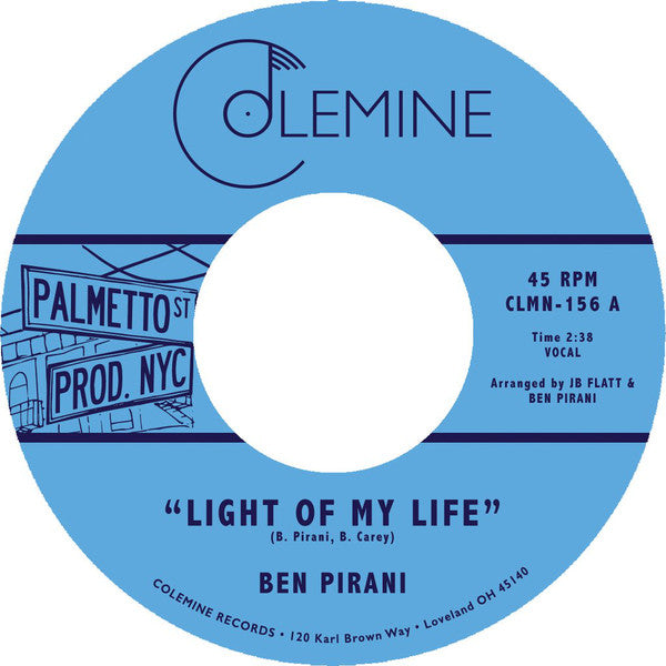 "Ben Pirani – Light Of My Life (Vinyl 7"")"