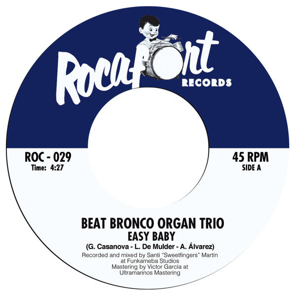 "Beat Bronco Organ Trio – Easy Baby (Vinyl 7"")"