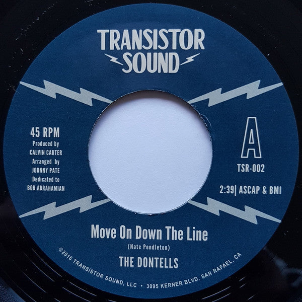 "The Dontells – Move On Down The Line (Vinyl 7"")"