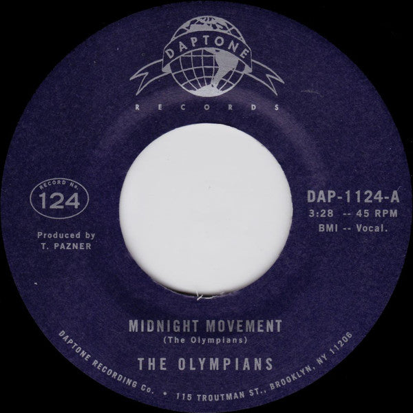 "The Olympians ‎– Midnight Movement (Vinyl 7"")"