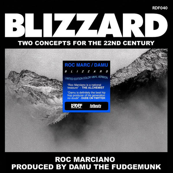 "Damu The Fudgemunk / Roc Marciano ‎– Blizzard (Vinyl 7"")"