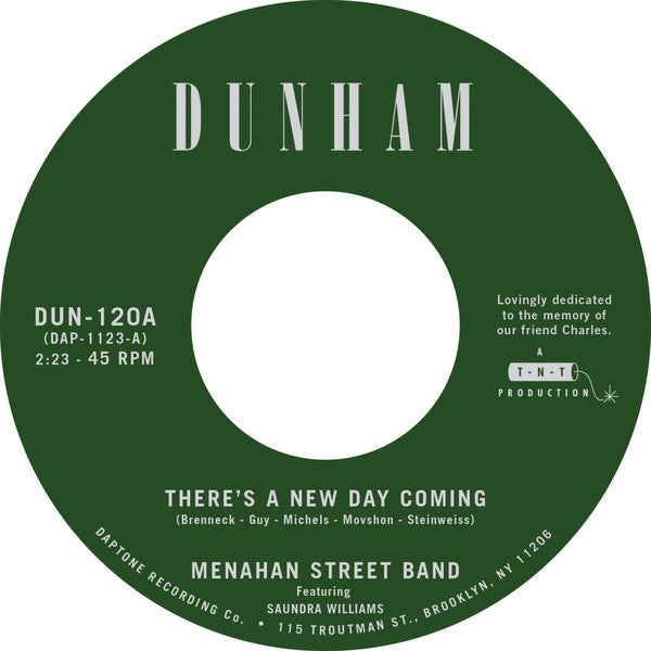 "Menahan Street Band ‎– There's a New Day Coming (Vinyl 7"")"