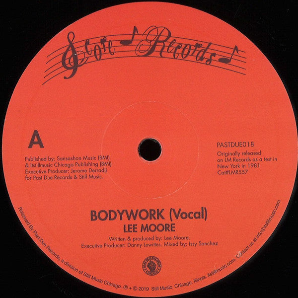 "Lee Moore ‎– Bodywork (Vinyl 12"")"