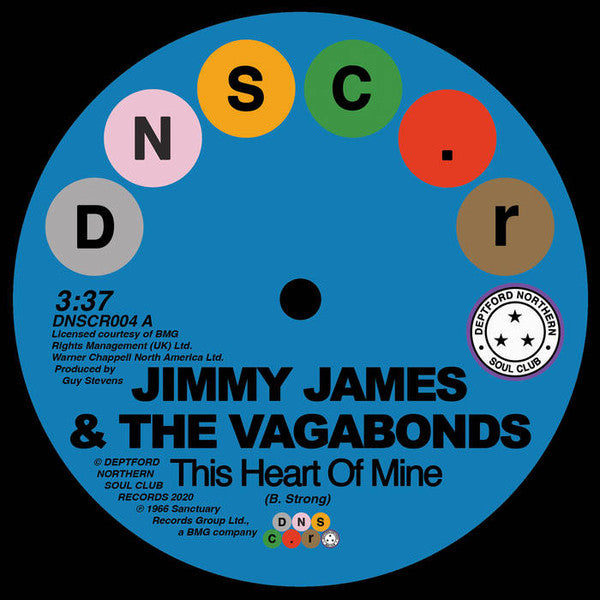 "Jimmy James & The Vagabonds ‎– This Heart Of Mine (Vinyl 7"")"