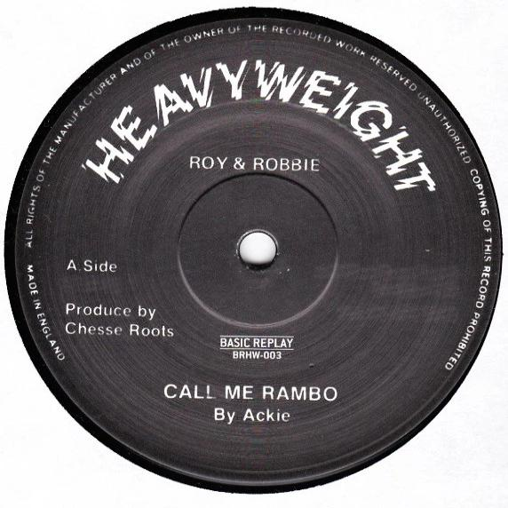 "Ackie / Chesse Roots ‎– Call Me Rambo (Vinyl 12"")"