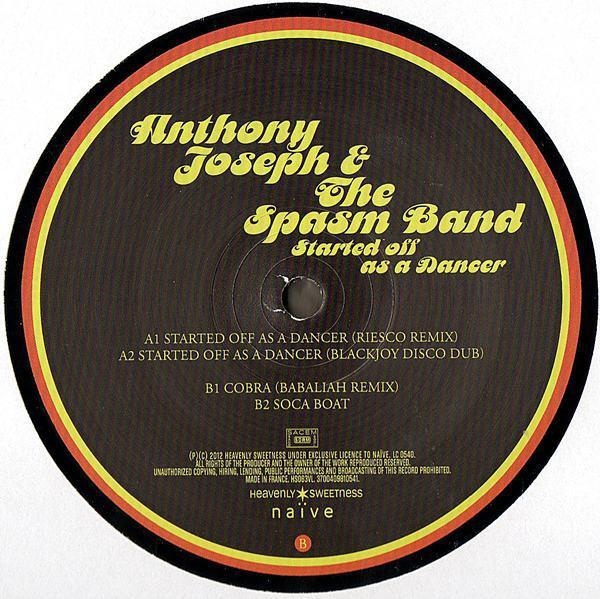 "Anthony Joseph & The Spasm Band – Started Off As A Dancer (Vinyl 12"")"