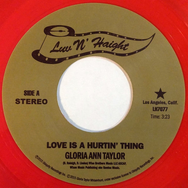 "Gloria Ann Taylor – Love Is A Hurtin' Thing (Vinyl 7"")"