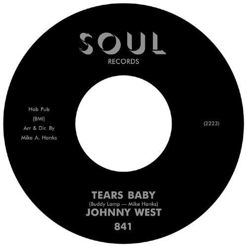 Johnny West - Tears Baby (Vinyl 7'') - Rook Records