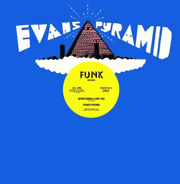 "Evans Pyramid – Never Gonna Leave You / The Dip Drop (Vinyl 12"") - Rook Records"