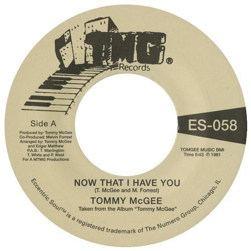 "Tommy McGee – Now That I Have You / Stay With Me (Vinyl 7"")"