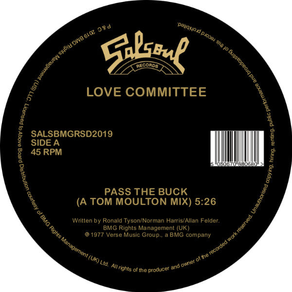"Love Committee – Pass The Buck (Vinyl 12"")"