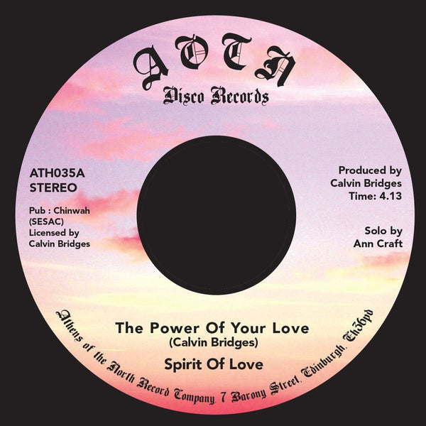 "Spirit of Love - The Power of Your Love (Vinyl 7"")"