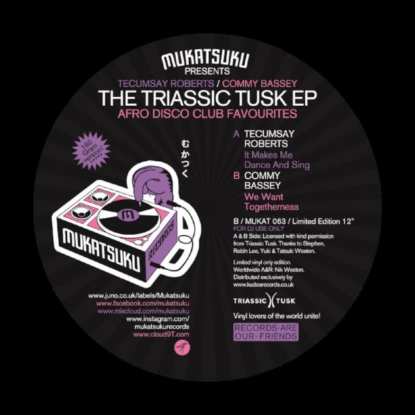 "Tecumsay Roberts & Commy Bassey - The Triassic Tusk EP (Vinyl 12"")"