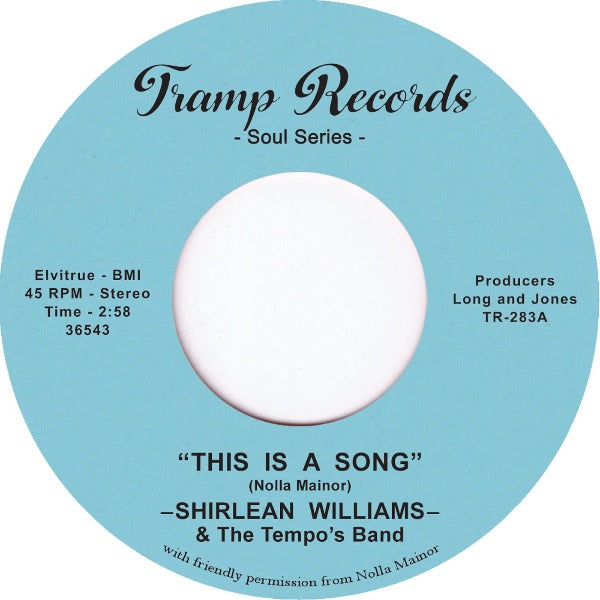 "Shirlean Williams & The Tempo's Band ‎– This Is A Song (Vinyl 7"")"