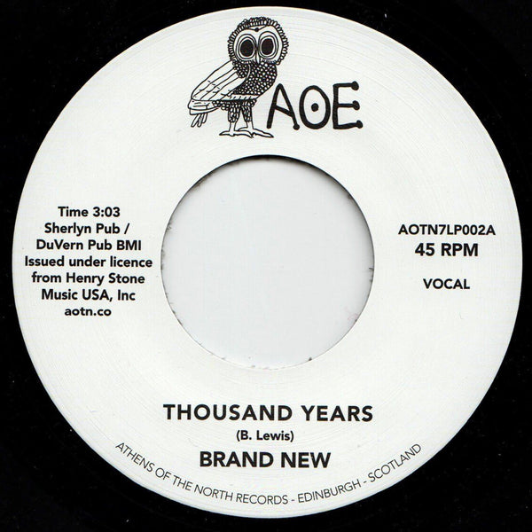 Brand New - Thousand Years (Vinyl 7'') - Rook Records