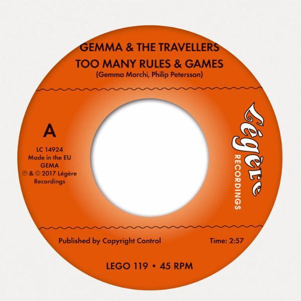 "Gemma & The Travellers ‎– Too Many Rules & Games (Vinyl 7"")"