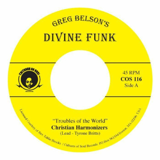 "Christian Harmonizers & Gospel Travelers - Troubles Of The World (Vinyl 7"")"