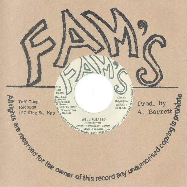 "Aston ""Family Man"" Barrett – Well Pleased (Vinyl 7"")"