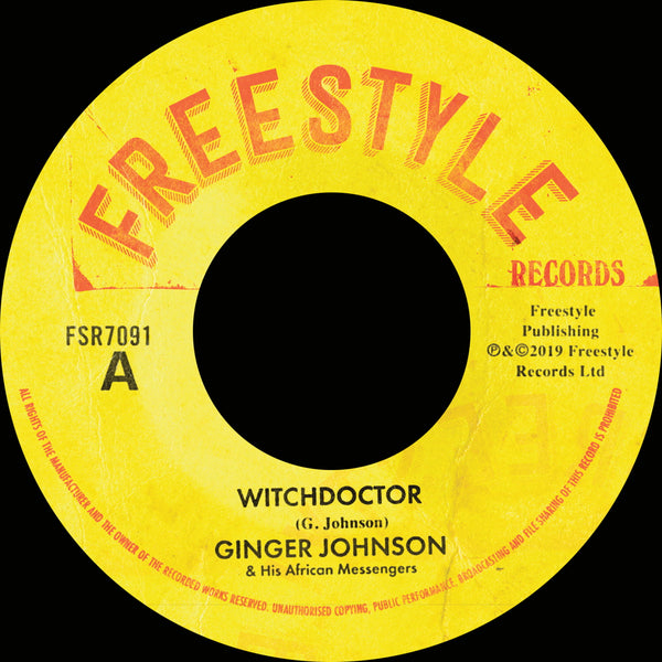 "Ginger Johnson and His African Messengers - Witchdoctor (Vinyl 7"")"