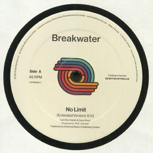 "Breakwater ‎– No Limit (Vinyl 12"")"