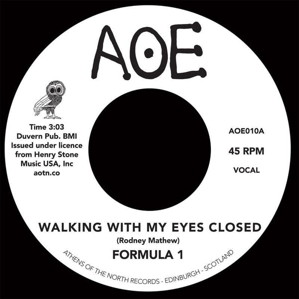 Formula 1 - Walking With My Eyes Closed (Vinyl 7'') - Rook Records