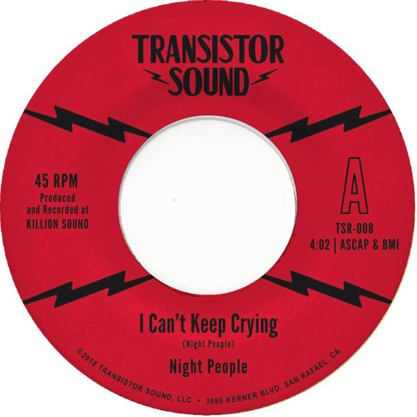 "Night People  – I Can't Keep Crying (Vinyl 7"")"