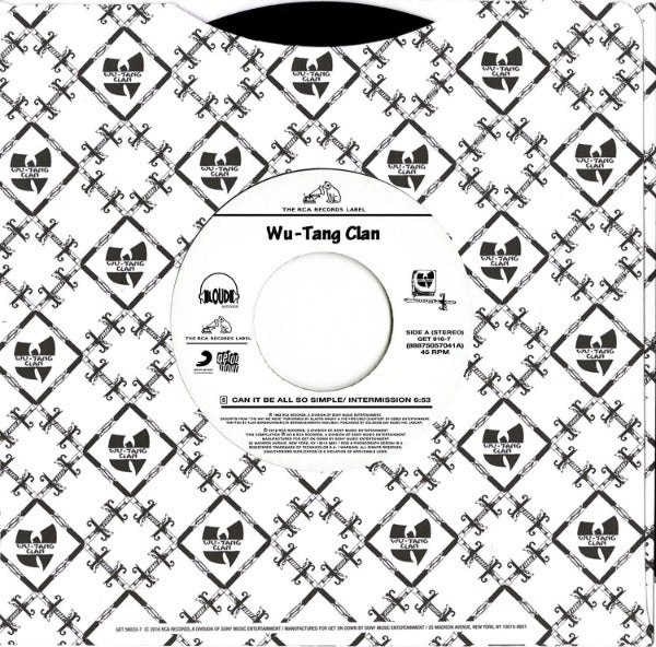 "Wu-Tang Clan ‎– Can It Be All So Simple / Da Mystery Of Chessboxin' (Vinyl 7"")"