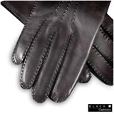 Men's Cashmere Lined Leather Gloves - 2