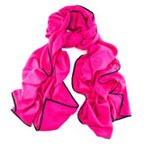 Lex Magenta and Black Scarf  - Cashmere and Silk