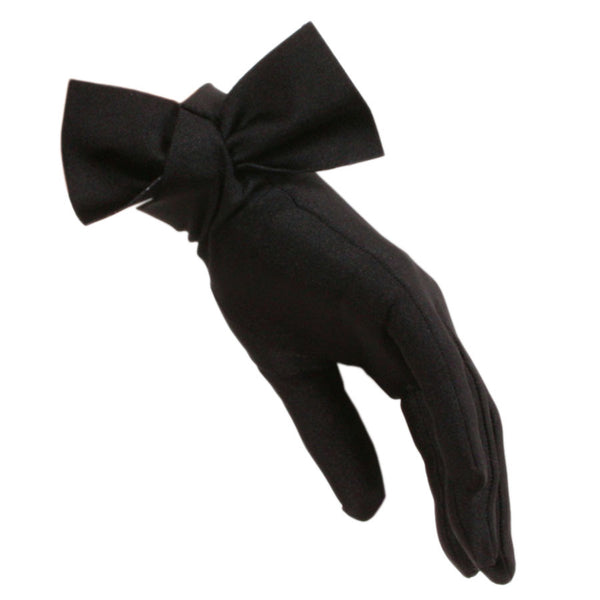 Black Bow Cocktail Gloves
