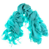 Turquoise Green Modal and Cashmere Shawl